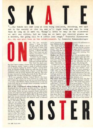 Skate On Sister!